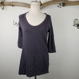 Standard james perse 3/4 sleeve top with pocket